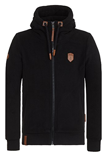 Naketano Male Zipped Jacket Mach Et Otze Black, L (Fleece Hoody Pullover)