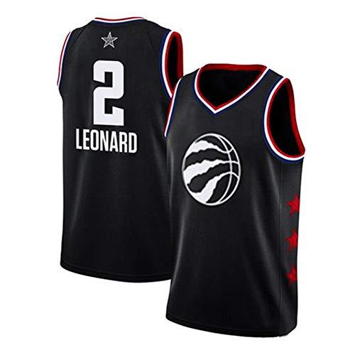 T-shirt NBA-Männer 2019 All-Star-Fan-Trikot Basketballanzug Trainingswettbewerb Anzug James Uniform Sport Pullover Black #2-4XL/180-185CM All-star-pullover