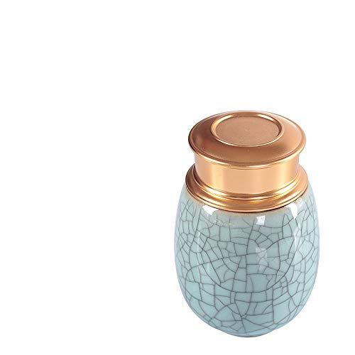 FFDGHB Versiegelte Dosen Lagertanks Keramische Teedosen Tragbare Teedosen Versiegelte Haushalts-Teedosen FüR SüßIgkeiten Kerzen 7 * 9,5 cm
