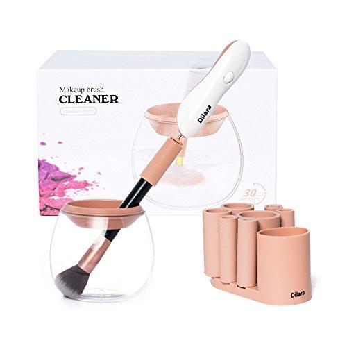 Original Make Up Pinsel Reiniger elektrisch - Reinigungsgerät für Schminkpinsel und Bürsten - Make Up Brush Cleaner Pinselreiniger (Beige)