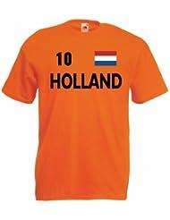 world-of-shirt Holland Herren T-Shirt Trikot Nr.10|