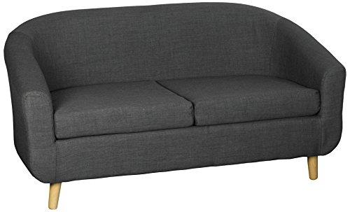 Harmony Furnishings Turin Fabric 2 Seater Sofa Charcoal