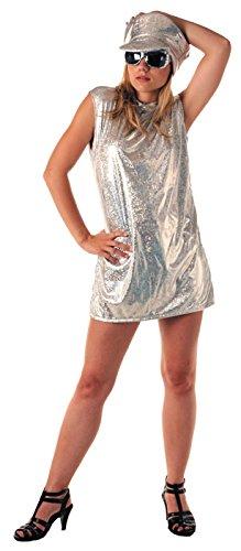 Déguisement Disco Femme Robe 70 Couleur Argent