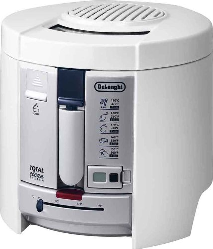 An image of the De'Longhi F26237.W Deep Fryer with Total Clean System - White