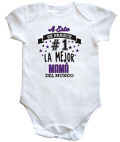 HippoWarehouse A Esto Se Parece #1 La Mejor Mamá del Mundo Body Bodys