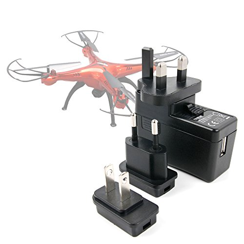 DURAGADGET Kit De Adaptadores Con Cargador Para Dron s-idee 01502 S181C HD...