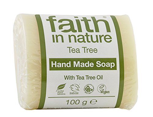 Faith in Nature Organic Tea Tree Soap,  100 g