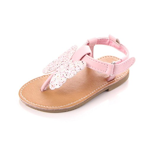 Ouneed® Bebe Fille Ete Coton Premier Pas Doux Sole Sandale Rose