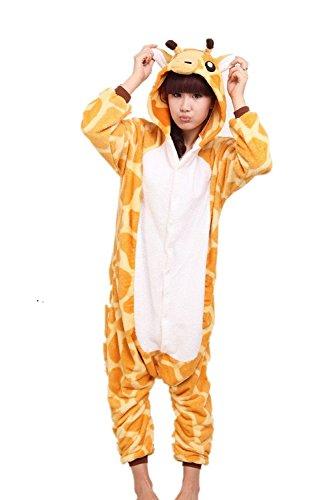 Preisvergleich Produktbild JT-Amigo Damen Herren Tier Kostüm Pyjama Jumpsuit Schlafanzug Overall,  Giraffe Kostüm,  Gr. M