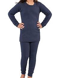 Celodoro Kinder Thermowäsche Set (Hemd + Hose) Warm, weich und atmungsaktiv durch Klimafaser - Größen 134-164