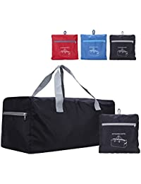 "Faraday 30"" Packable Tote Travelling Luggage Bag Foldable Carry-On Folding Duffel Bag (Black)"