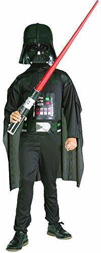 Star Wars   Disfraz de Darth Vader para niño, caja con disfraz, máscara y espada, 8 10 años (Rubie`s 41020 L)