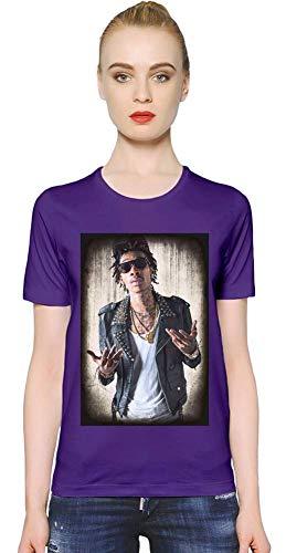 Wiz Khalifa mit Sonnenbrille with Sunglasses Women T-Shirt Girl Ladies Stylish Fashion Fit Custom Apparel by XX-Large