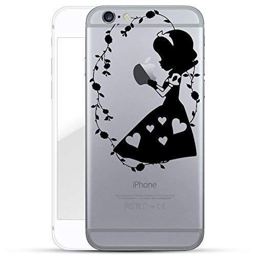 finoo | iPhone 6 und 6S Hard Case Handy-Hülle mit Motiv | dünne stoßfeste Schutz-Cover Tasche in Premium Qualität | Premium Case für Dein Smartphone| Mädchen hält Apfel