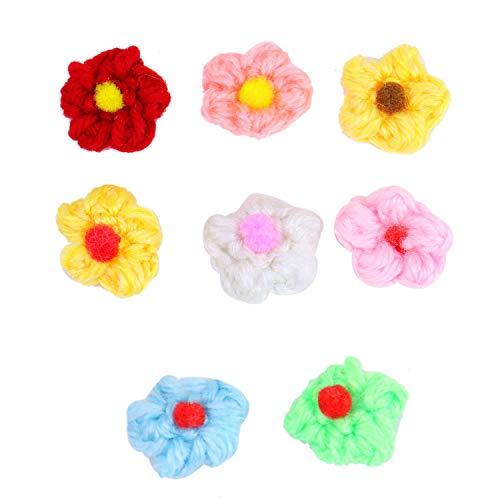 Monrocco Häkelblumen/Häkelblumen für Näharbeiten, Basteln, 2,5 cm, 100 Stück - 100 Applique