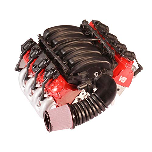 Motorhauben-Kühlkörper Analoge V8-Motorabdeckung + Lüfterkühlkörper für Traxxas TRX4 D90 D110 D130 SCX10