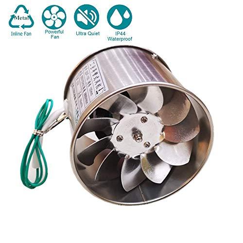 25W 98mm Ventilador Extractor de Aire Silencioso 160m³/h para Oficina, Baño, Dormitorio, Metal Motor rodamiento de Bolas funcionando