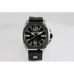 lum-tec V7Armbanduhr, Schwarz Stahl V-Series