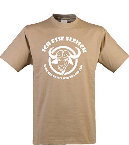 Klamottenkiste24 Herren T-Shirt, Ich esse Fleisch, kit, Gr. XXL (Wurst-kit)