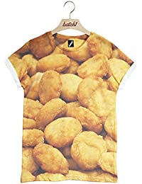 Batch1 Chicken Nuggets All Over Fashion Print Novelty Fast Food Unisex T-Shirt