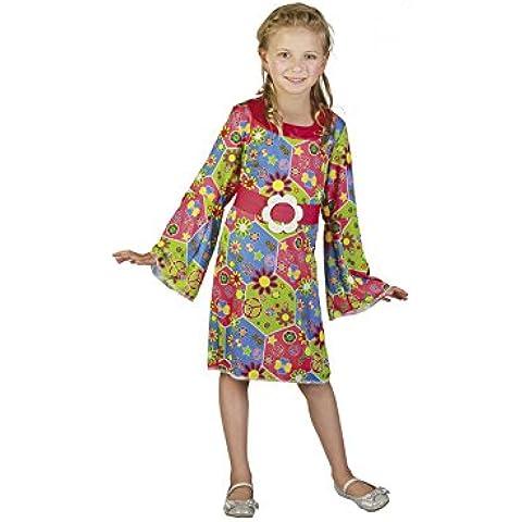 Disfraz Hippie Niña Talla S