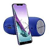 Jkfine - Altavoz PortáTil InaláMbrico de Alta Fidelidad Bluetooth para TeléFono de Computadora, Barra de Sonido EstéReo, Radio TF FM, Altavoz de Subwoofer para Interiores y Exteriores (Azul)