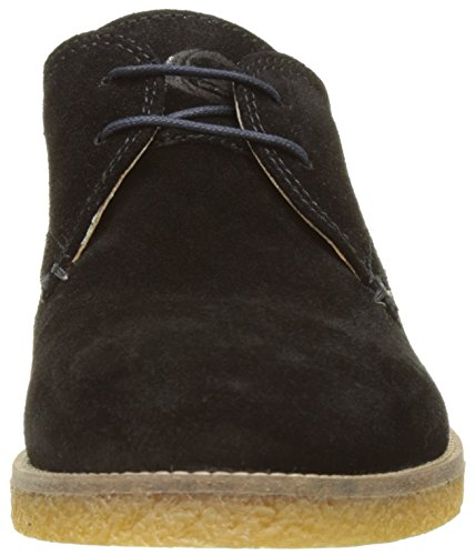 Base London Herren Whitlock Derby Noir (Black Suede)