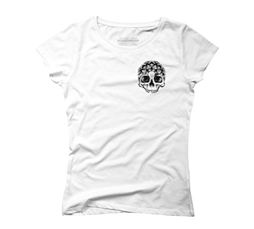 Mandala Skull Women's Graphic T-Shirt - Design By Humans White