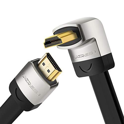 UGREEN High Speed 3m 270 Grad Winkelstecker HDMI Kabel mit Ethernet für Ultra HD 4K 3D, Kompatibel mit Blue-ray Playern, 3D Television,HDTV, Roku, Xbox360, PS3, Apple TV usw