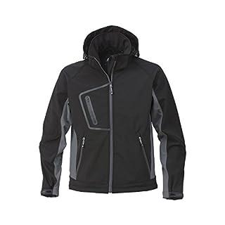 ACODE Soft-Shell Kapuzenjacke Herren-Jacke | Größe 60/62 (XXL) | schwarz/grau