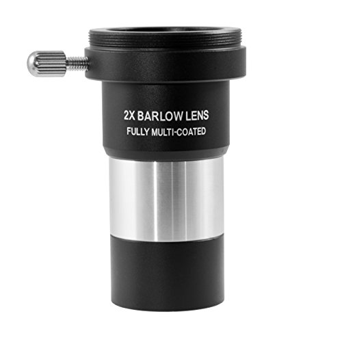"""TS-Optics achromatische Barlow Linse 2x mit Multivergütung 1,25"""" mit T2 Gewinde und Ringklemmung , TSBF1"""