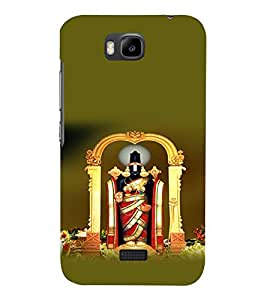 printtech Lord God Balaji South India Back Case Cover for Huawei Y5c