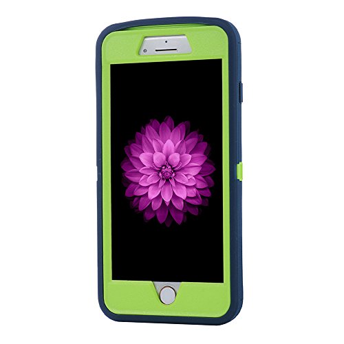 "MOONCASE iPhone 7 Plus Coque, Durable Anti-dérapante Anti-choc Protection Housse Ultra Hybrid Flexible Silicone Defender Etui Case pour iPhone 7 Plus 5.5"" Violet Marine"