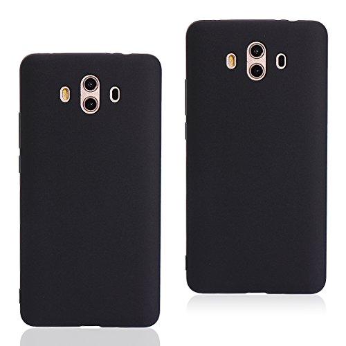 Asnlove 2 Pack Ultra Dünn Tasche TPU Handy Fälle Schutzhülle Handykappen Anti-Scratch Bumper Case mit Pure Motiv Silikon Schutzhülle Für Huawei Mate 10 Smartphone