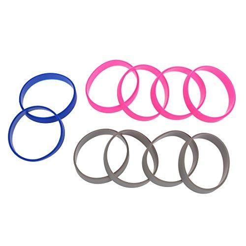 PQZATX 10-Silikon-Gummi-Armband-Stulpe-Armband-Handgelenk-Band 12mm (Handgelenk-stulpe-armband)
