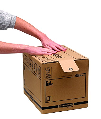 Bankers Box Umzugsbox SmoothMove klein (aus 100% recyceltem Karton, 10er Packung) braun - 8