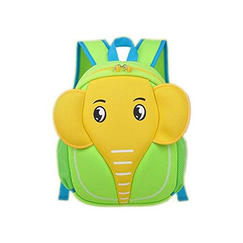 SAMGU Bolsos Lindos de la Historieta Elefante Niños y niñas Bandolera Mochila Backpack Color Verde