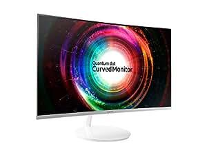 Samsung 27 inch (68.4 cm) Curved QLED Backlit Computer Monitor - WQHD, VA Panel with HDMI, Mini-DP Ports - LC27H711QEWXXL (Silver)