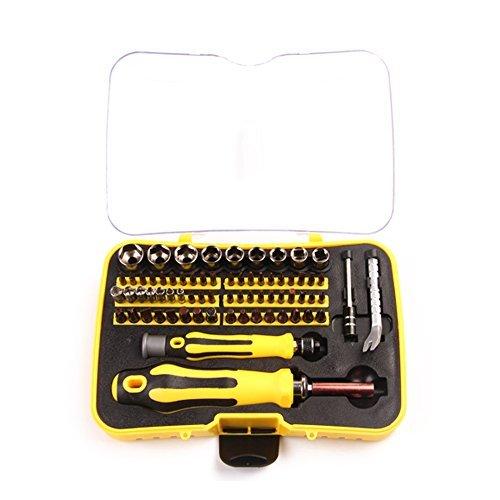 MPLUS Feinmechaniker Schraubendreher Set - 70-teilige Magnetische Reparatur Werkzeug Tools mit 65 Bits für iPhone, iPad, MacBook, Desktop, PC, Tablet, Spielkonsole und andere Elektronische Geräte