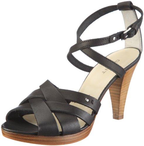 GANT Cannes black leather 46.42103A001 Damen Sandalen/Fashion-Sandalen Schwarz/Black