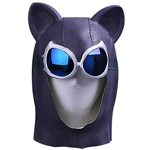 QQWE Catwoman Maske Batman Sexy Weibliche Katze Maske Cosplay Helm Maske Halloween Weihnachtsshow Leistung Film Spiel Requisiten Latex Headwear,A-OneSize