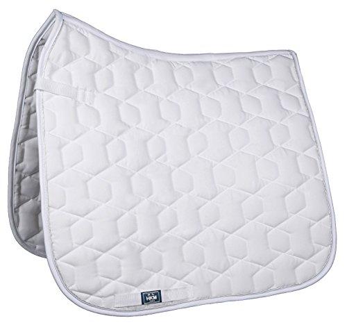 HKM Sports Equipment HKM Schabracke -Bari-, Weiß/Weiß, Dressur