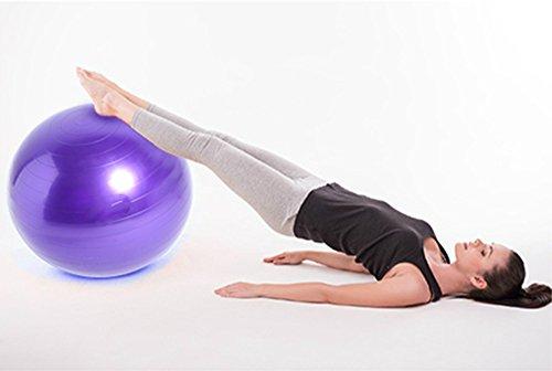 Good Times Gymnastikball, anti burst, Yogaball, Pilatesball, Fitnessball, Sitzball mit Pumpe, rutschfest, berstsicher (65cm Hellgrün) - 5