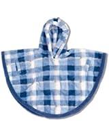 Baby Boum Unisex Baby 09m Hooded Fleece Poncho in Softy Check Design