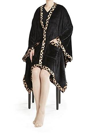 URBAN HABITAT Angel Wrap, Super Soft Cosy Microfibre Cape, Luxury Faux Fur Winter Shawl Cloak Cape Coat, Poncho Wrap Blanket with Sleeves Pockets ( 58