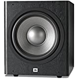 Serie JBL SUB 260P Studio 2 - Subwoofer amplificado DeepBass (12 pulgadas, 300 W), color vinilo negro
