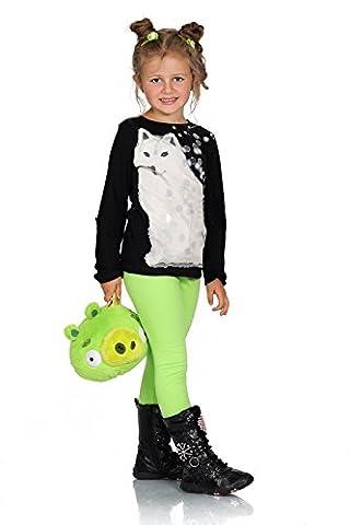Futuro Fashion Chaud Épais Enfants Leggings Coton Filles Pantalon Uni Longue Enfants Pantalon Âge 2 3 4 5 6 7 8 9 10 11 12 13 - Vert Citron, 2 ans