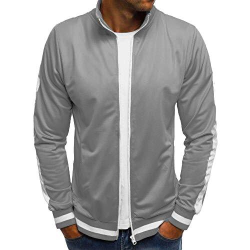 Herren Pullover,TWBB Mantel Outwear Mit Reißverschluss Einfarbig Herbst Winter Lange Ärmel Jacke Hemd