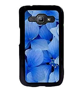 Printvisa Ultra Blue Flowers 2D Hard Polycarbonate Designer Back Case Cover for Samsung Galax...