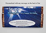 Personalised Mens Boys Happy Birthday PHOTO 114g Milk Chocolate Bar gift for him ~ 12th 16th 18th 21st 30th 40th 50th Birthday Gift Present Idea N88 - ANY AGE